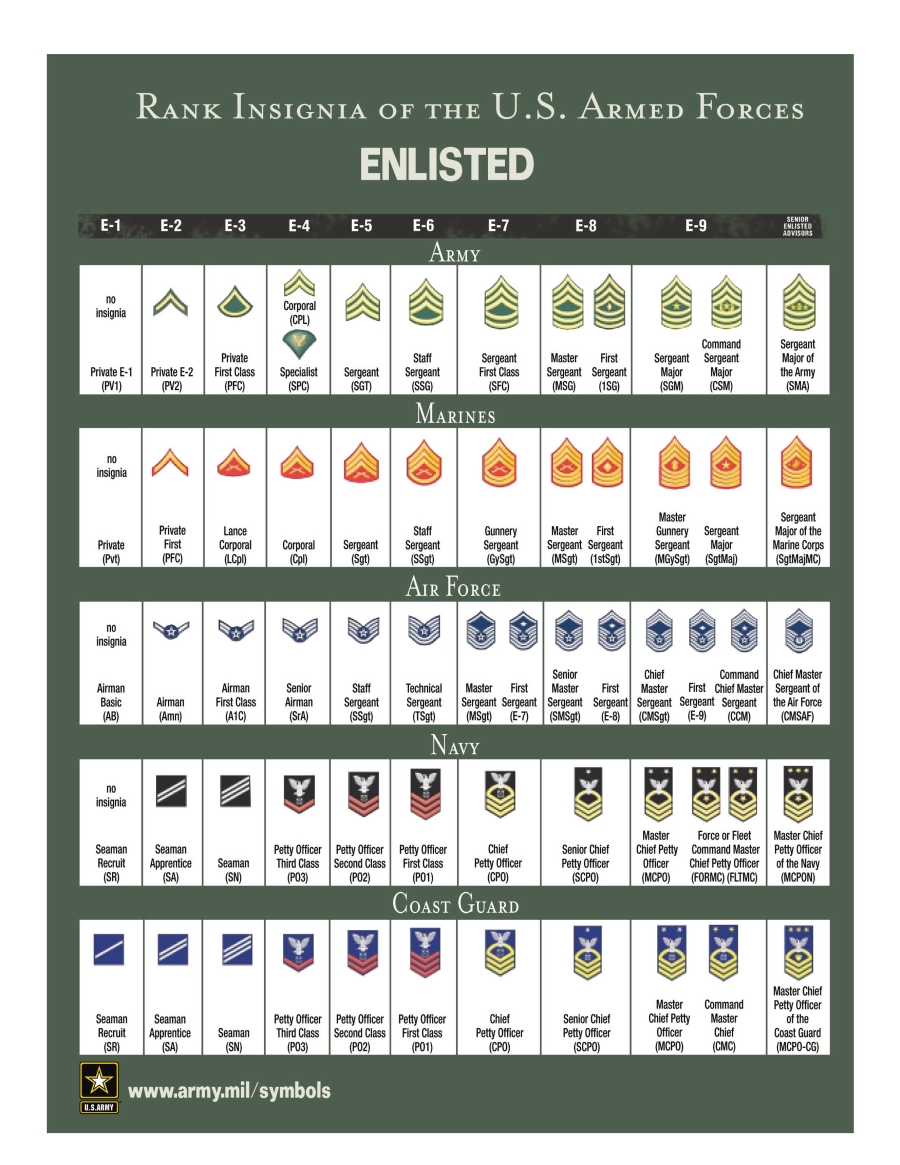 Showing picture: Rank Icons : Army And Military